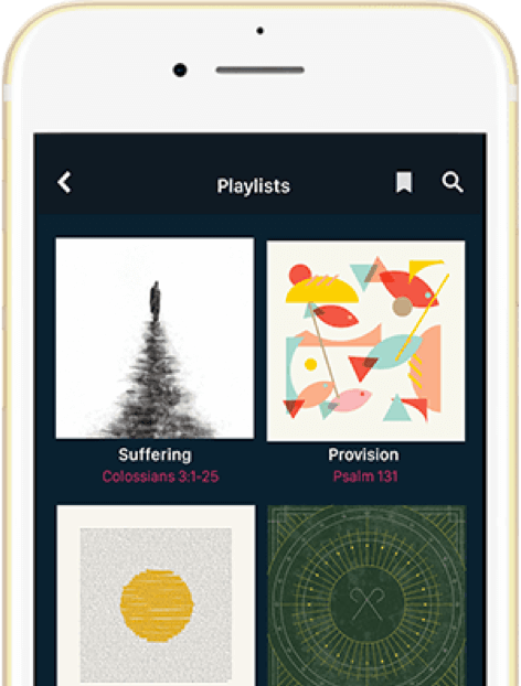 Screenshot of Dwell's playlist feature