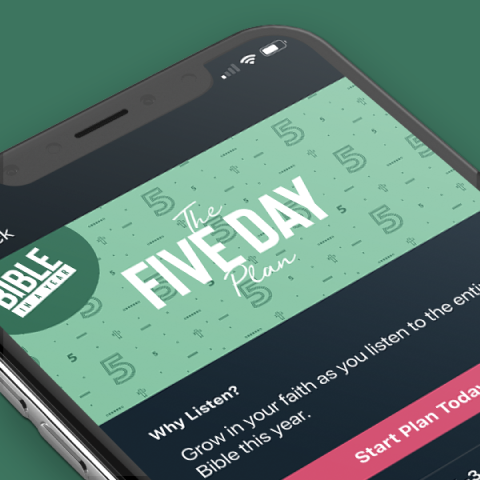 Image of Five Day plan in Dwell App.