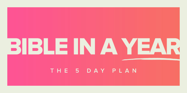 Bible in a Year: The 5 Day Plan